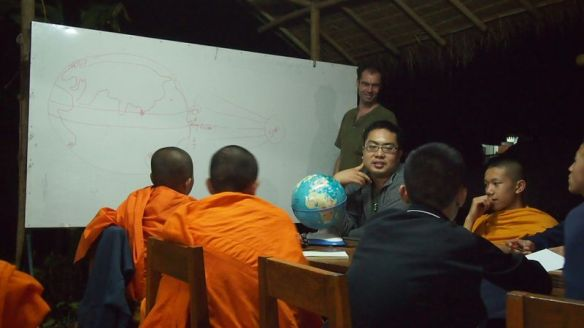 Workshop for young monks at the school for hope in the north of Thailand