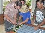 Solar water heater workshop 25 june in Ubud, Bali, Indonesia
