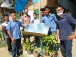A solar cooker made by Myanmar refugees
