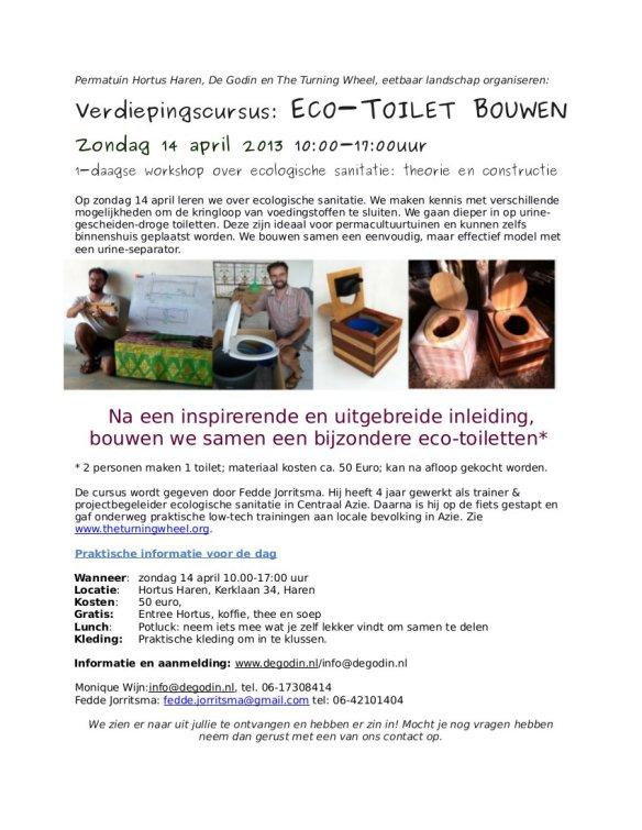 2013 april Ecologische sanitatie Haren